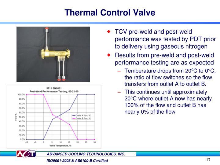 Thermal Control Valve