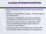 location of unitech south park