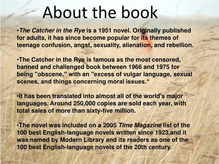 Ppt The Catcher In The Rye Jd Salinger Powerpoint Presentation