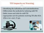 th impacts on nursing1