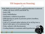 th impacts on nursing5