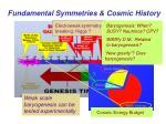fundamental symmetries cosmic history3