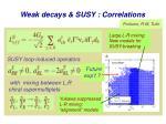 weak decays susy correlations