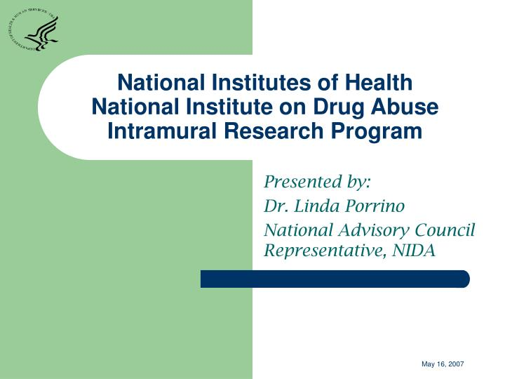 National institutes of health national institute on drug abuse intramural research program