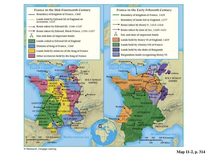 Map 11-2, p. 314