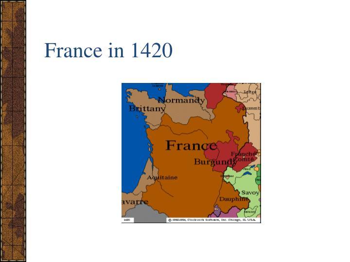 France in 1420