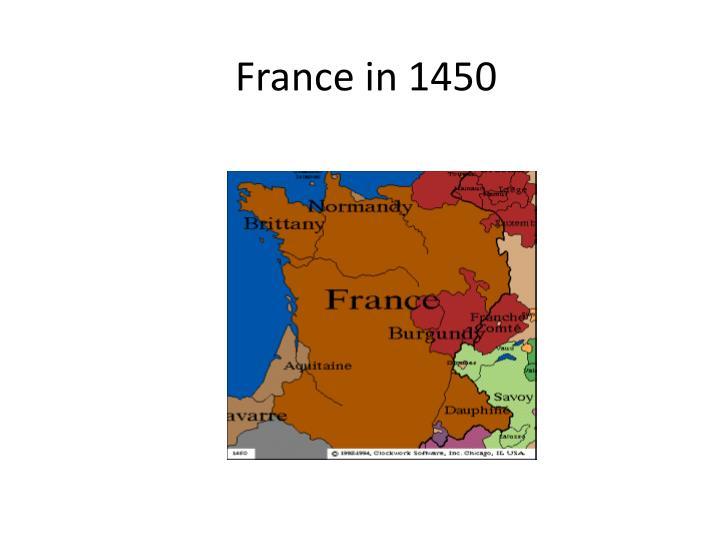 France in 1450
