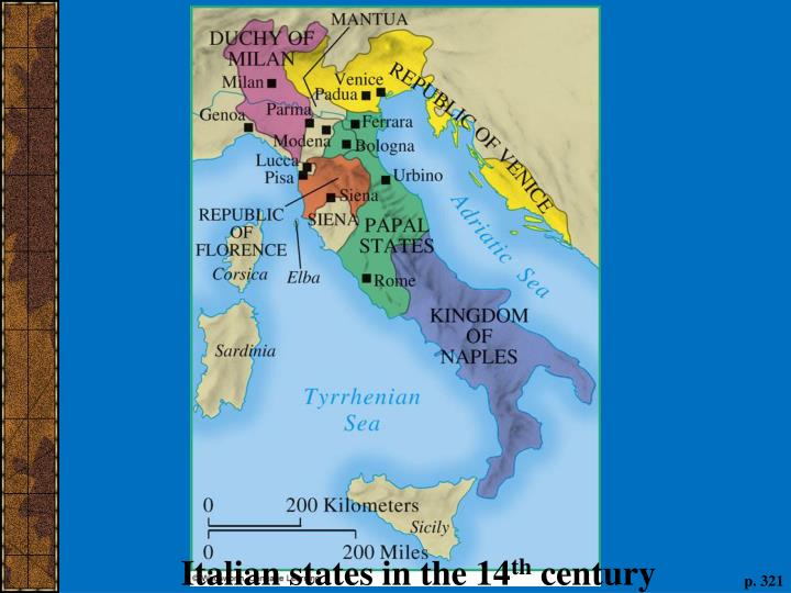 Italian states in the 14