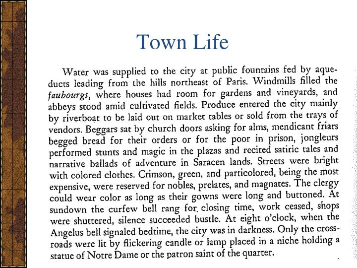 Town Life