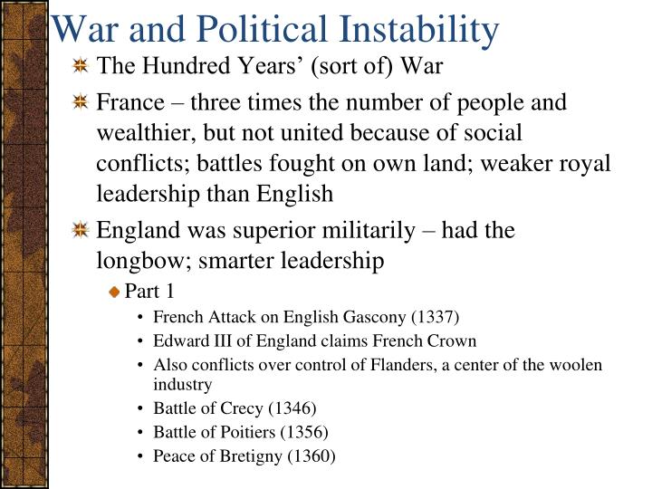 War and Political Instability