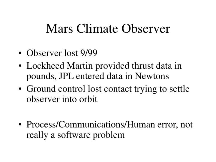 Mars Climate Observer
