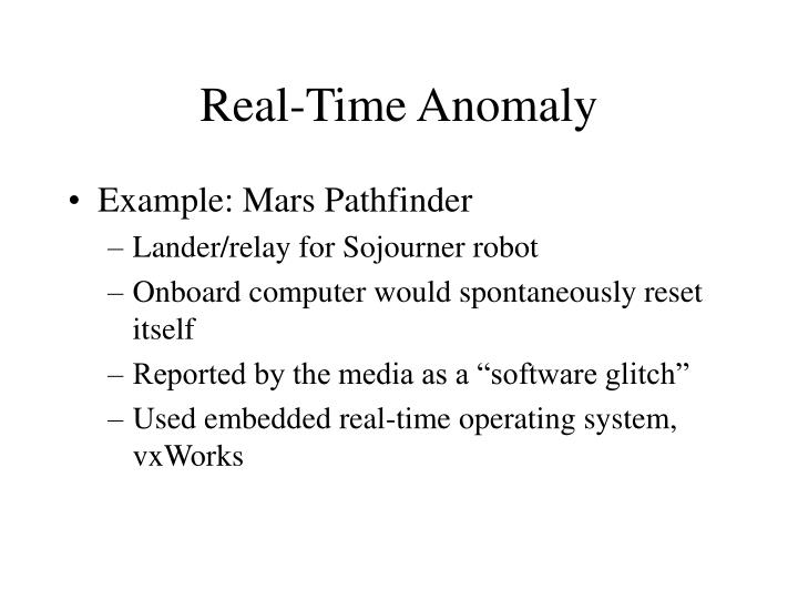 Real-Time Anomaly