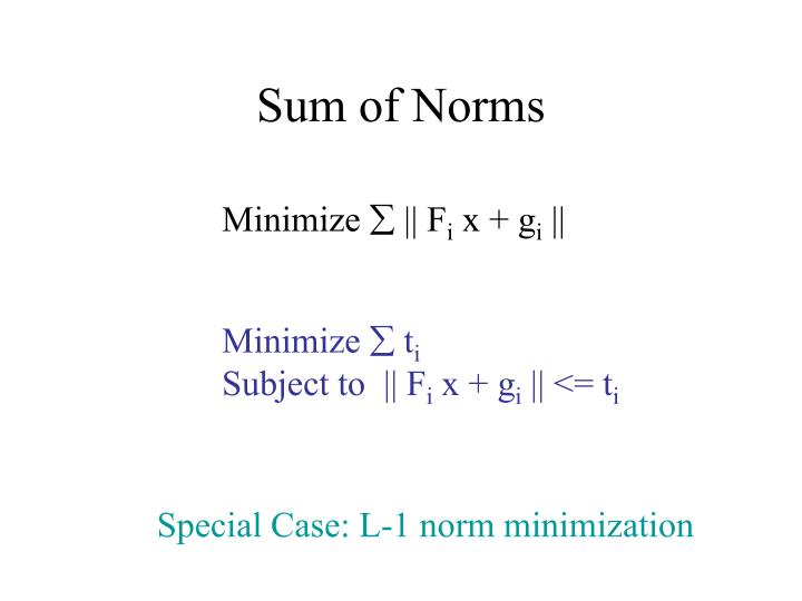 Sum of Norms