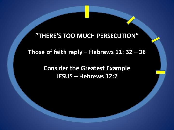 """""""THERE'S TOO MUCH PERSECUTION"""""""