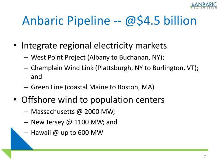 Anbaric Pipeline -- @$4.5 billion