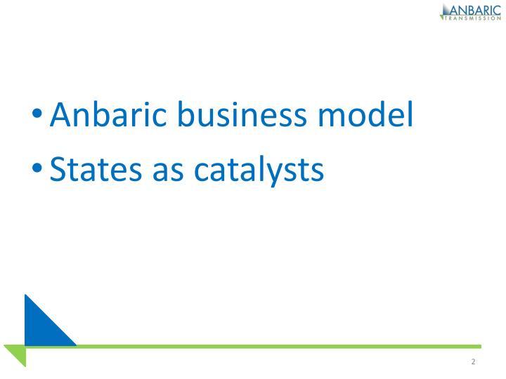 Anbaric business model
