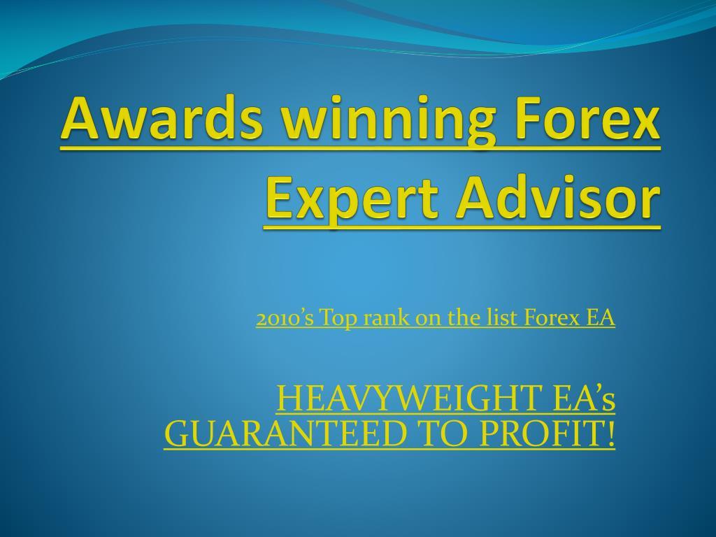 awards winning forex expert advisor l.