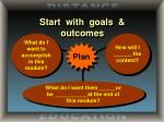 start with goals outcomes1
