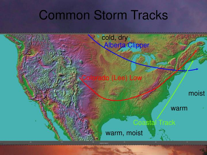 Common Storm Tracks