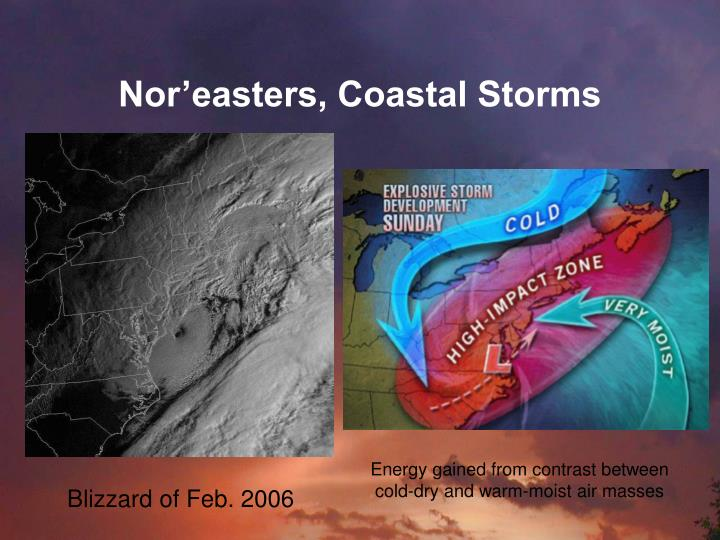 Nor'easters, Coastal Storms