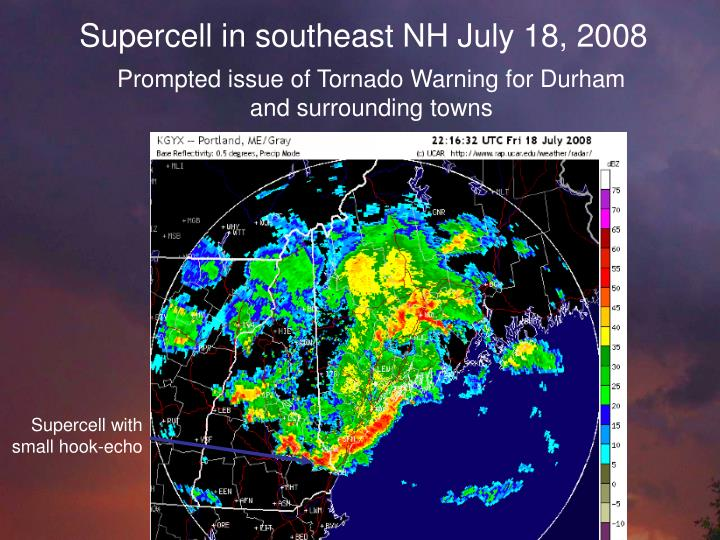 Supercell in southeast NH July 18, 2008