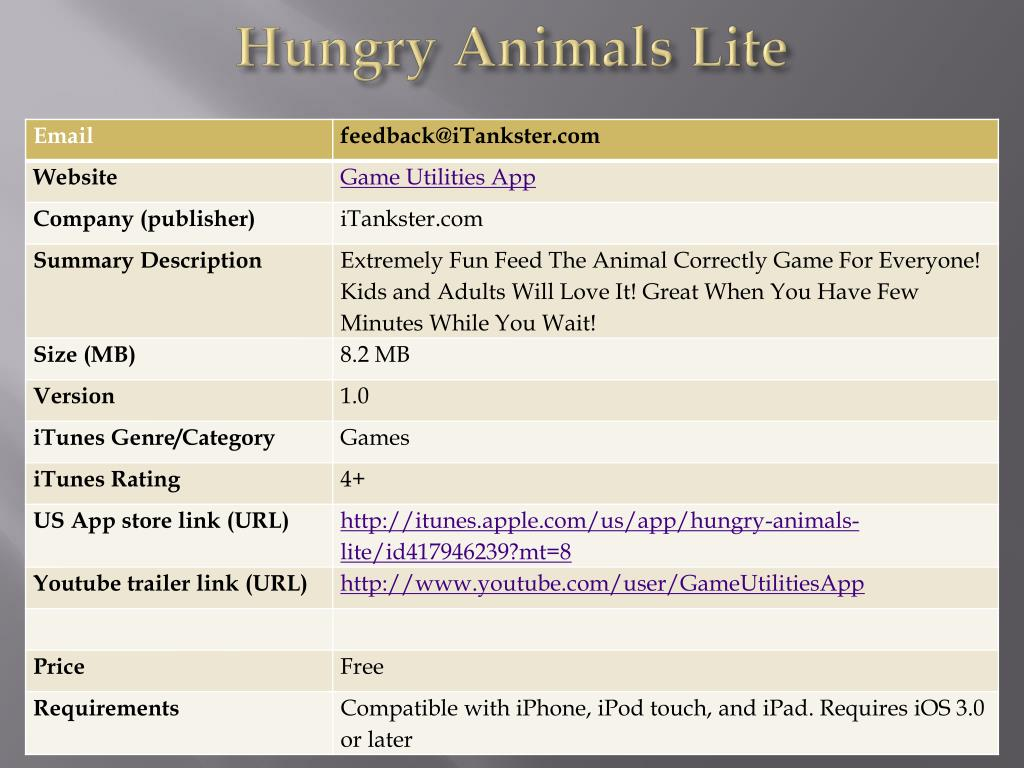 hungry animals lite l.