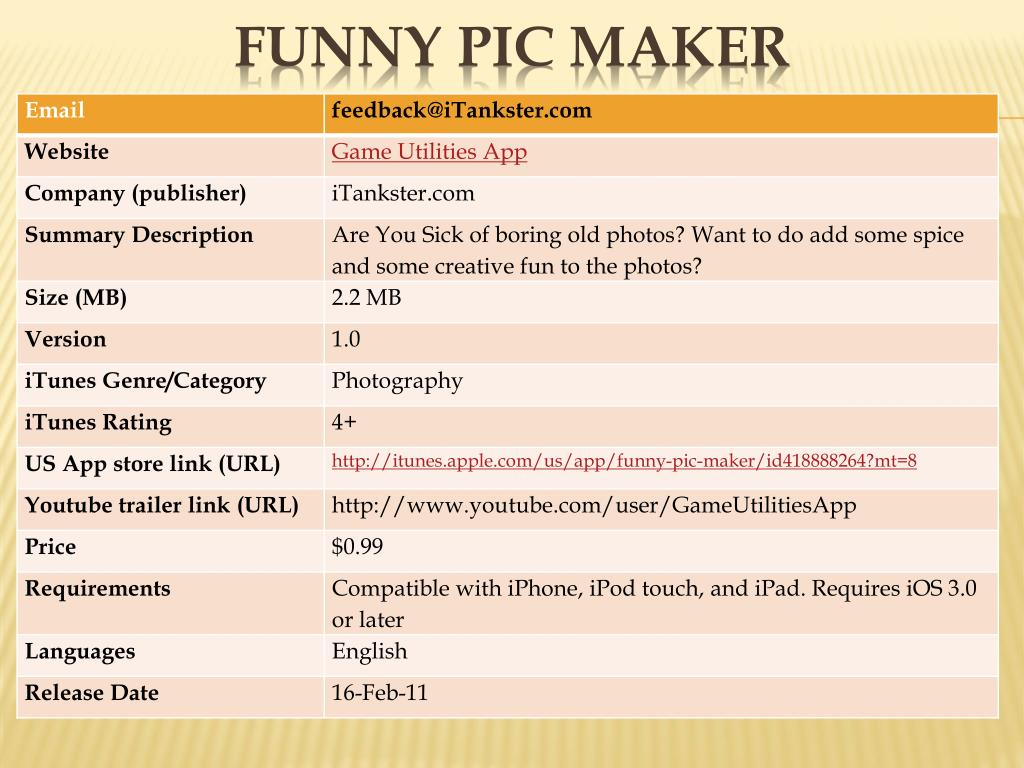 funny pic maker l.