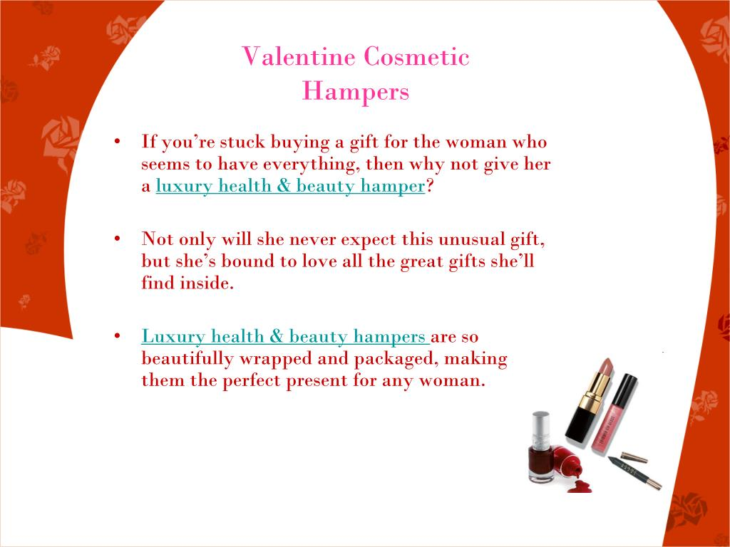 Valentine Cosmetic Hampers
