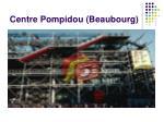centre pompidou beaubourg