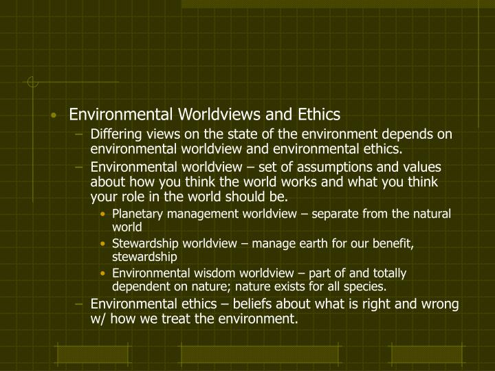 ethics and worldview
