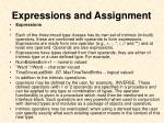 expressions and assignment1