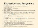 expressions and assignment5
