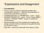 expressions and assignment8