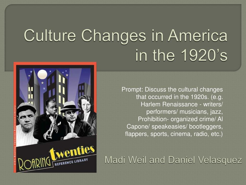 PPT - Culture Changes in America in the 1920's PowerPoint ...