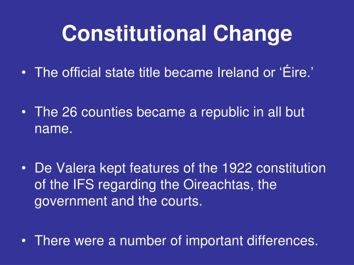 constitution and change