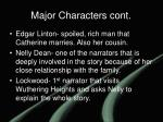major characters cont