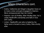 major characters cont14