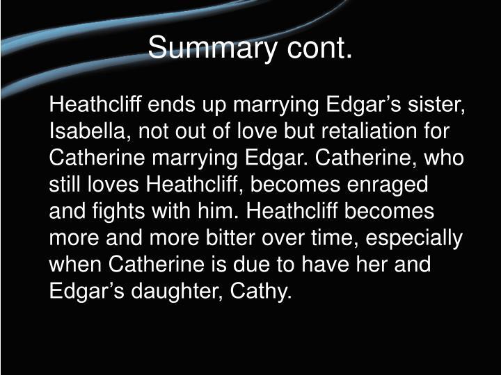 when catherine marries edgar
