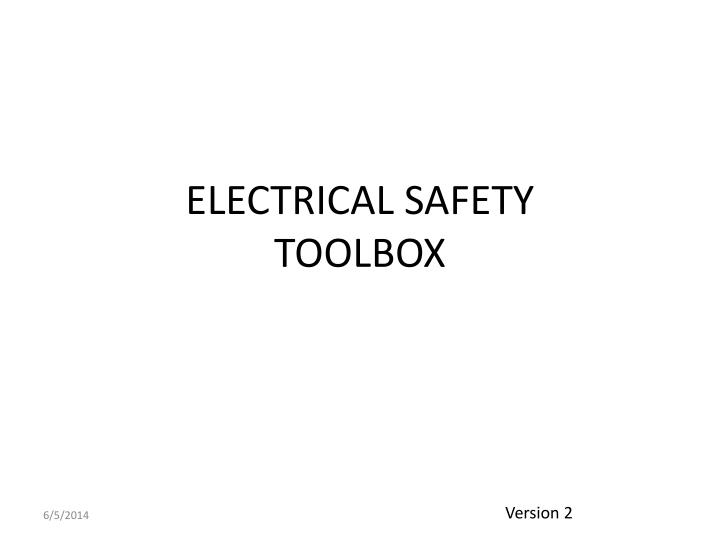 electrical safety toolbox n.