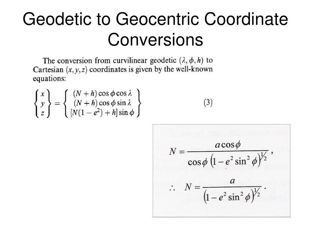 PPT - Lecture 13 – Geodetic Reference Systems PowerPoint
