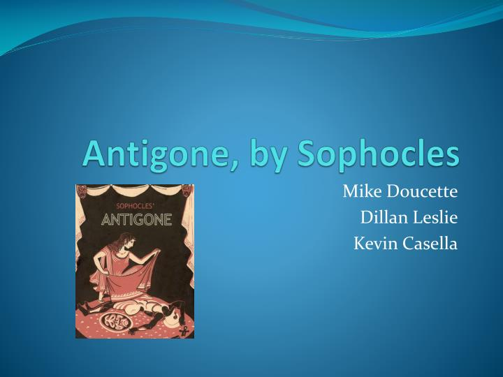 antigone by sophocles n.