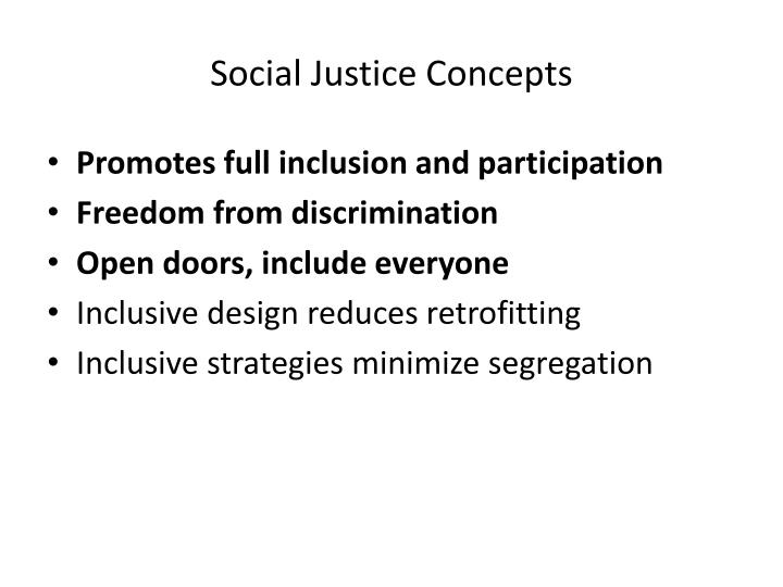 Social Justice Concepts