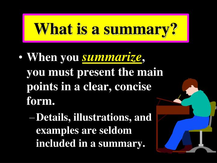 what is a summary n.