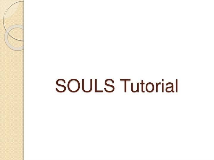 SOULS Tutorial