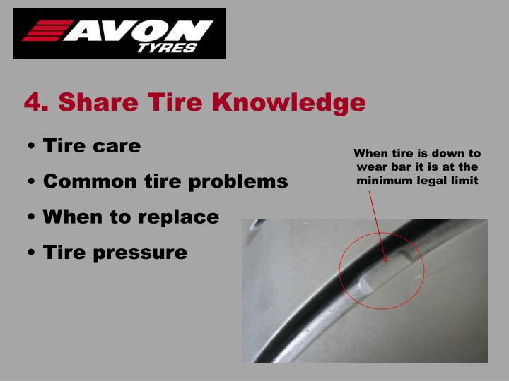 4. Share Tire Knowledge