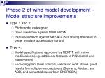 phase 2 of wind model development model structure improvements