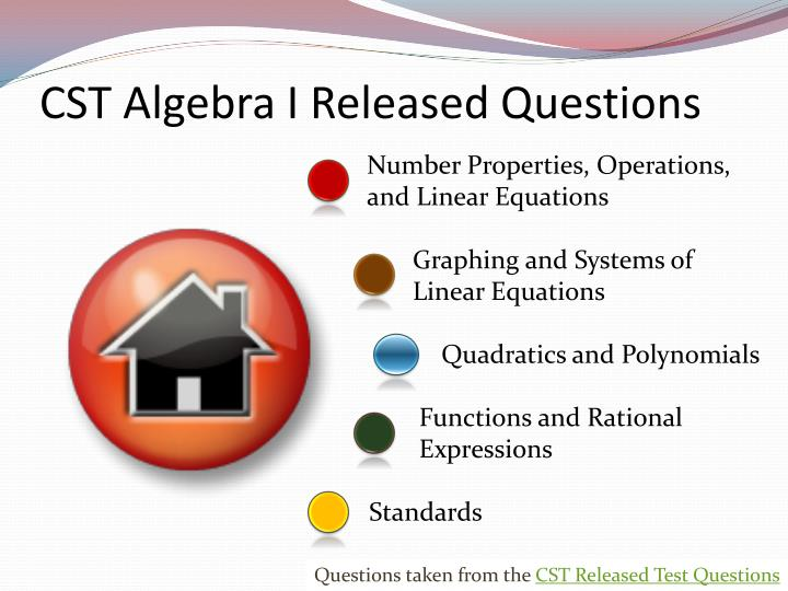 cst algebra i released questions n.