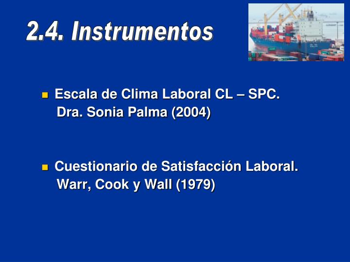 Escala de Clima Laboral CL – SPC.