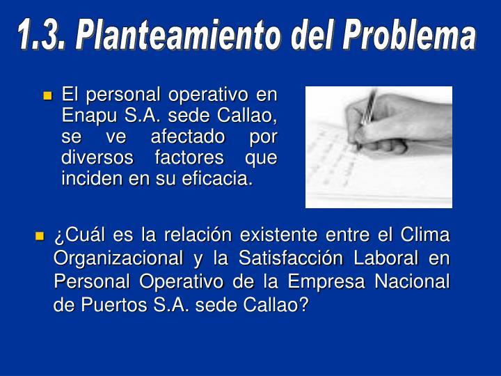 El personal operativo en Enapu S.A. sede Callao, se ve afectado por diversos factores que inciden en su eficacia.