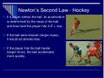 newton s second law hockey
